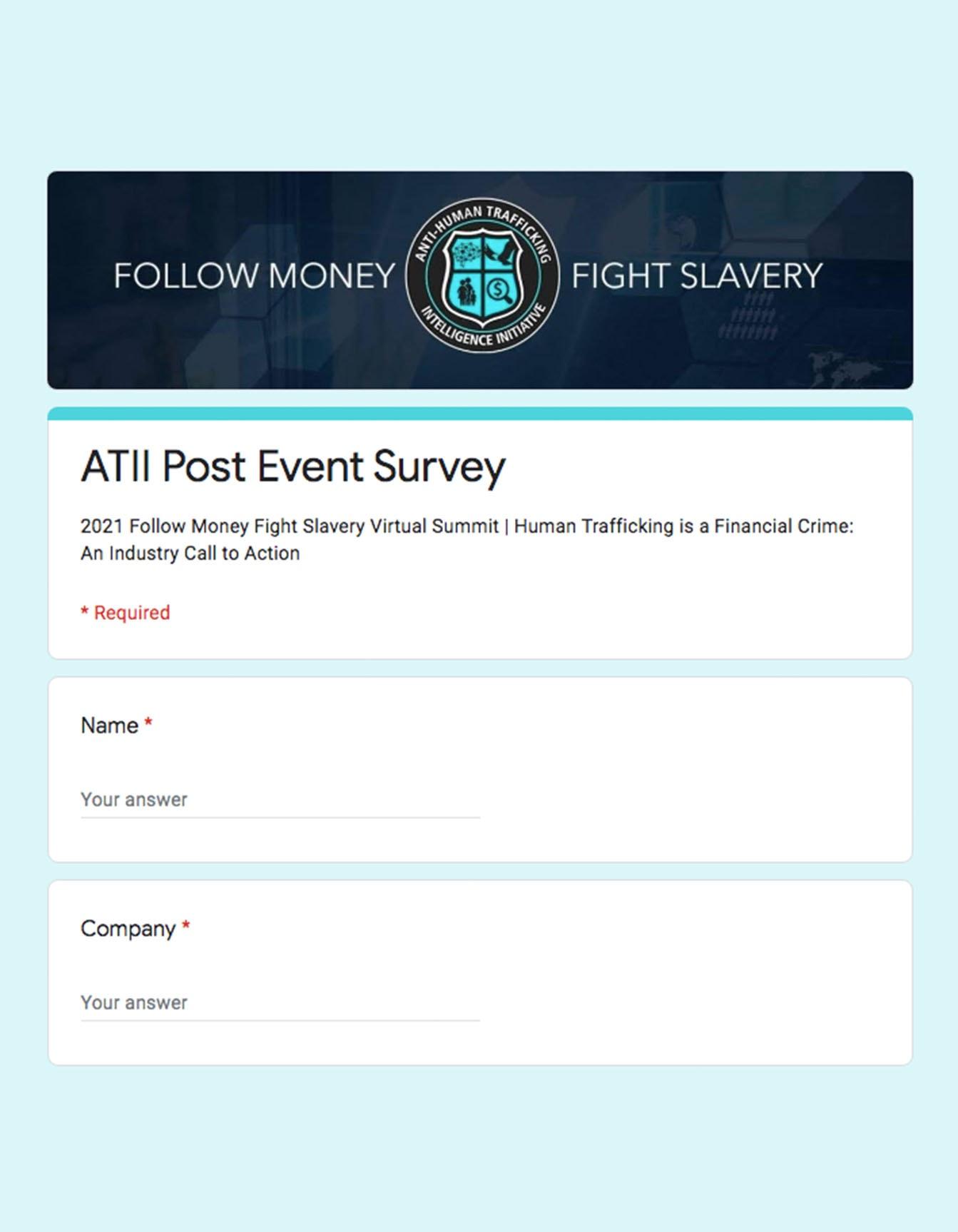 Post Event Survey